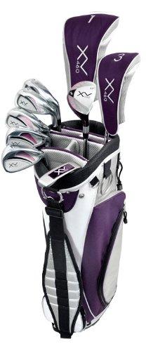 Knight Women's XV 460 Complete Golf Set (Right Hand, Ladies Flex, Driver, 3 Fairway Wood, 4/5 Hybrid, 6-PW, Putter, Bag), Outdoor Stuffs