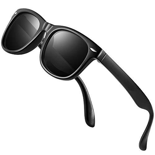 Kids Sunglasses - FEIDU Polarized Sunglasses Girls Child Boys Age 3-10 FDC2149 (BLACK/BLACK)