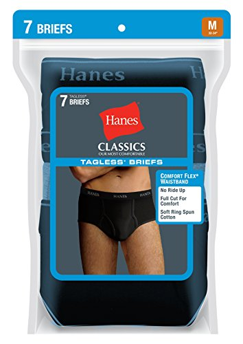 Hanes Men's 7 Pack Ultimate Full-Cut Pre-Shrunk Briefs - Colors May Vary