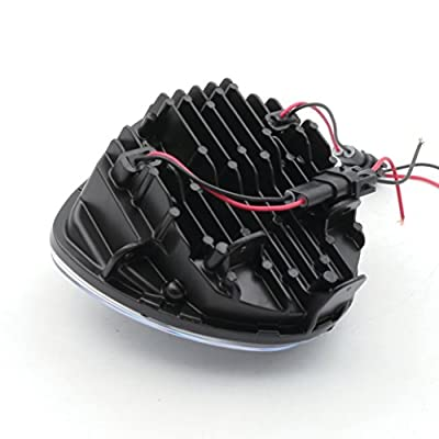 LED Headlight for Victory Motorcycle Cross Road Country Cruisers 2010-2016 (Black): Automotive