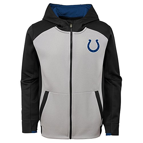 Indianapolis Colts Youth Full Zip - NFL Indianapolis Colts Kids & Youth Boys Hi Tech Performance Full Zip Hoodie, Black, Youth Small(8)