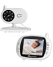 """Cozime Babyphone Caméra Vidéo sans Fil, Bébé Moniteur 3.5"""" LCD Couleur, Caméra Vidéo Bébé Surveillance 2.4 GHz Bidirectionnelle, Vision Nocturne, VOX et Mouvement Alarme, Berceuses, Vision Nocturne"""