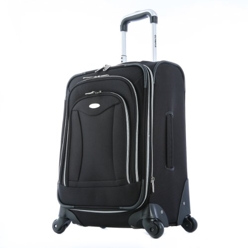 Olympia Luggage Luxe 21 Inch Expandable Carry-On Upright ...