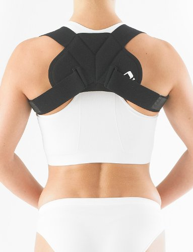 Neo G Light Clavicle Support - for Discreat & Comfortable Posture Alignment, Pain Relief, Muscular Aches, Rehab - Fully Adjustable - Class 1 Medical Device – Large - Black