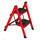 Ladder stool 2-Steps Ladder Household Folding Ladder Insulation Ladder of Iron Multifunction Ladders Folding Step Step Stools