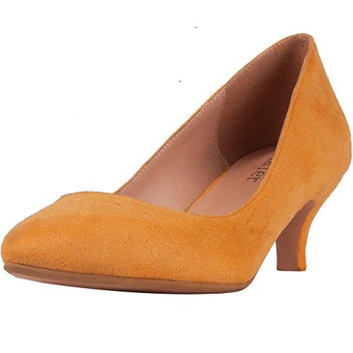 Calaier Damen Caup Sexy High Heels Slip On Einfache Bequeme Nachtclub Dame Party Hochzeit Pumps Schuhe 5.5CM Stiletto...