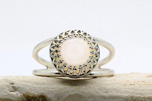 Anillo de plata, anillo delicado, pequeño anillo de ópalo, anillo de oro de la moda, anillo de plata esterlina, anillos de...