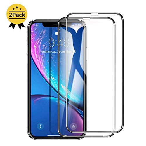 Humixx [2 Packs] Tempered Glass Screen Protector Compatible for iPhone XR Screen Protector,[Edge to Edge Coverage] Tempered Glass Film with Guidance Frame Compatible for Apple iPhone XR(2018)