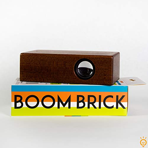 New On Trend Goods Boom Brick Brown Portable Cell Phone Induction Speaker Play Music Anytime Anywher...