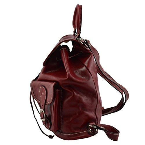 4f7e2bfed2777 Rucksack Aus Echtem Leder Farbe Rot - Italienische Lederwaren - Rucksack ...