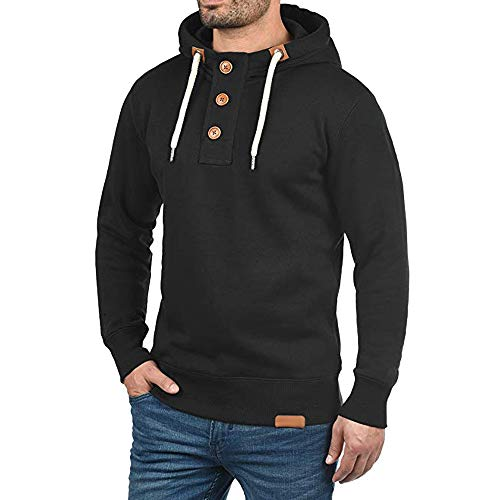 Waterproof Winter Jackets for Men Plus Size.Fashion Trip Men Hooded Pullover Hoodie Sweater with Buttons Sweatshirt -