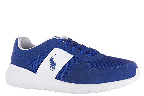 Polo Ralph Lauren chaussures baskets sneakers homme en daim cordell blu
