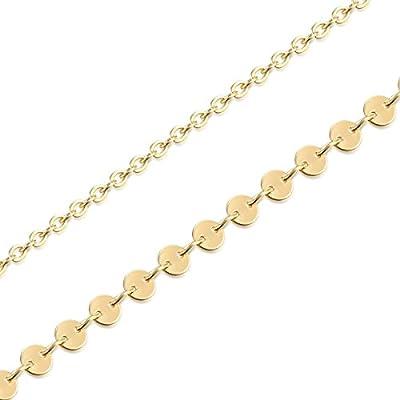 Fettero Women Handmade Dainty Anklet Silver 14K Gold Fill Boho Beach Foot Chain Adjustable Ankle Bracelet