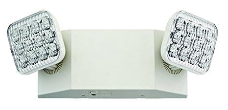 Lithonia Lighting EU2 T20C M12 2-Light White LED Emergency Fixture on