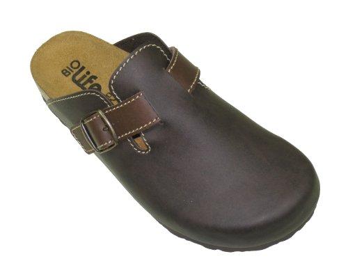 Bio-life 0005.562, mocassins homme sabots sabots chaussures pour femme marron
