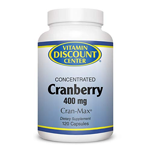 Vitamin Discount Center Cranberry Concentrate 400mg, 120 Capsules