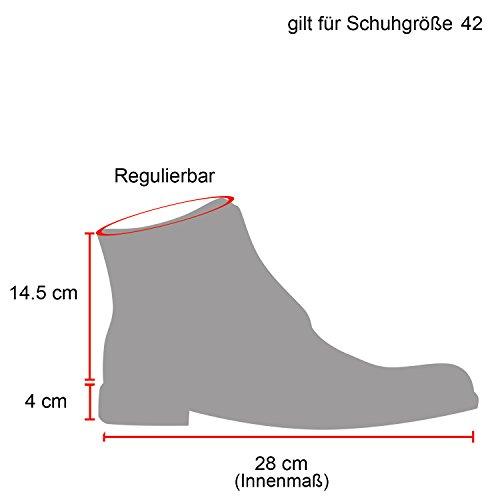 Stiefelparadies Herren Worker Boots Profilsohle Stiefeletten Gefütterte Outdoor Schuhe Schnürboots Wildleder-Optik Nieten Camouflage Flandell Grau