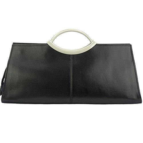 Negro Market Superiores 212 Cipressino Cuero Con Bolso Florence Asas Vaca Brillante Leather De w5ZxXqSC7