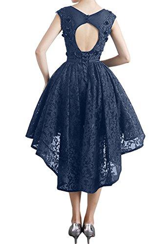 Tintenblau Rundkragen Ivydressing Partykleider Spitzenkleid Abendkleider Kurz Damen Sweetheart Promkleid nqHUTawg8x