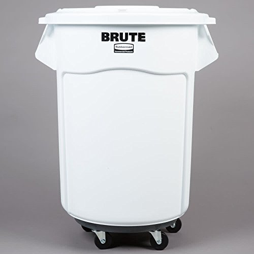 TableTop King White 55 Gallon Mobile Brute Ingredient Bin Kit by TableTop King