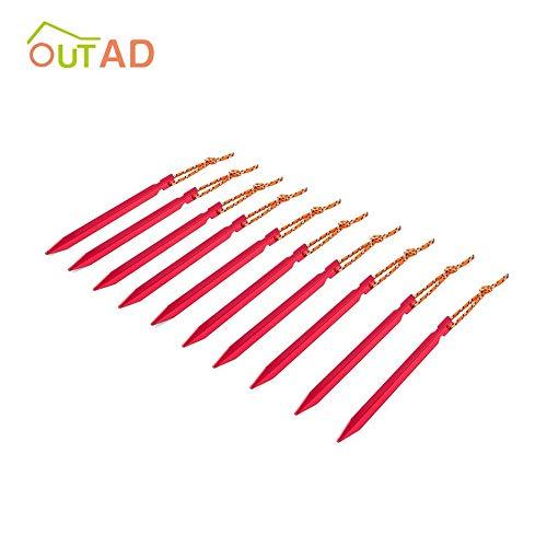 Rojo Libertroy Estaca de aleaci/ón de Aluminio con Clavija para Carpa de 10 Piezas con Equipo para Acampar al Aire Libre Tienda de campa/ña para Picnic Tienda de Viaje 18cm