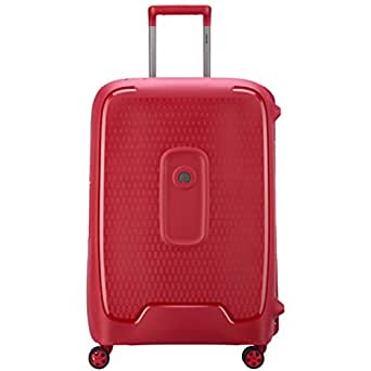 Delsey Paris Moncey Valise 55 cm Trolley Cabin 4 Double Wheels Carry-On (Hardside), Red (00384480104)