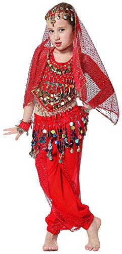 Belly Dancer Costumes for Kids Girls Teens Toddler 3T 4T 4 5 6 7 8 9 12 14 16