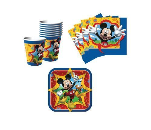 BirthdayExpress Mickey Mouse Snack Pack Kit for 16