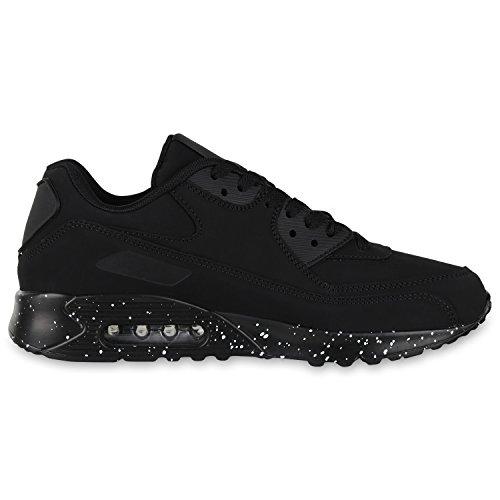 diansen® running Flyknit Boost inspirado entrenador Fitness gimnasio deportes zapatos (tamaño 6–�?1) Schwarz Weiss Paint