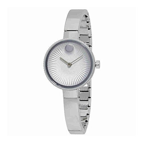 Movado Women's Swiss Edge Stainless Steel Bangle Bracelet Watch 28mm 3680020