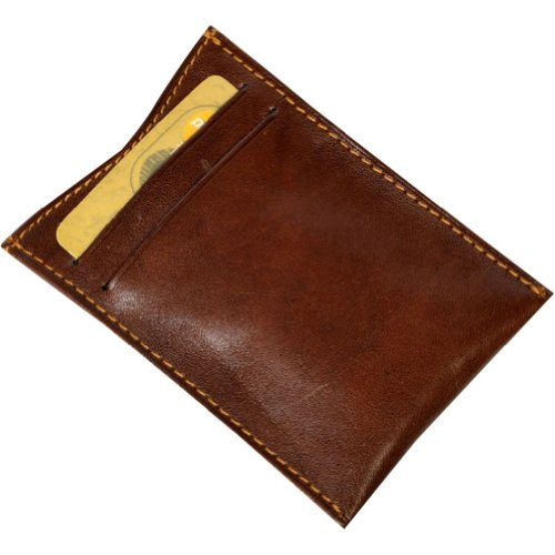 Tension Spring Tony Leather with Perotti Credit Bull Card Slot Mens Clip Money Brown Italian xrXwYCqX