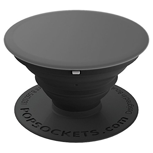 Grey - Solid Color Christmas Gift regalo de Navidad - PopSockets Grip and Stand for Phones and -