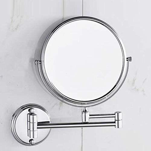 American Imaginations AI-11-646 Rectangle Wall Mount Magnifying Makeup Mirror with Dual 1x/5x Zoom, 5-Inch x 13-Inch, Chrome from American Imaginations