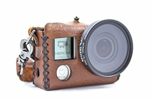 Handmade Leather Case for GoPro HERO 3/4 with LCD BacPac