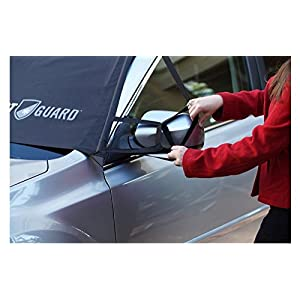 FrostGuard Premium Winter Windshield & Wiper Cover for Snow, Frost and Ice - Standard (Black)
