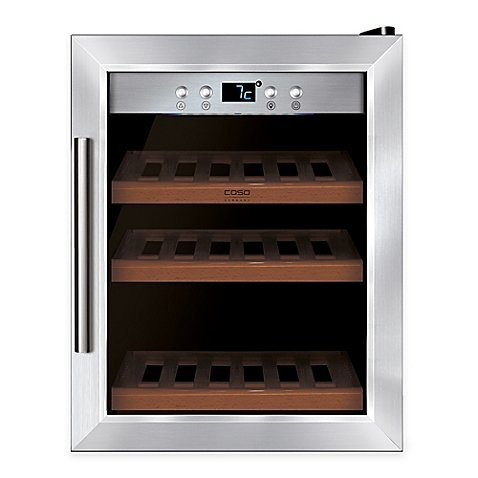Caso Wine Master 12-Bottle Stainless Steel Wine Cooler with Compressor