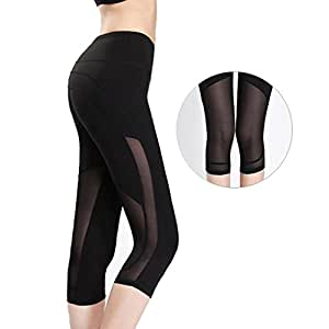 Byjia Womens Outdoor Capris Fitness Tights Leggings Walking Running Yoga Pants /Pack Of 2/ . Black . S