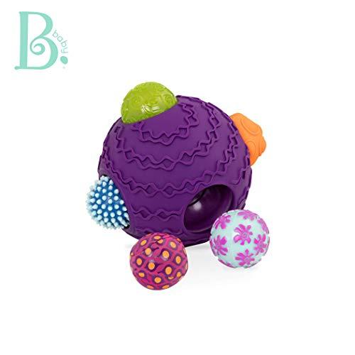 B. Toys - Ballyhoo Baby Ball - 1 Big Textured Ball with 5 Small Sensory Balls - Bpa Free Developmental Toys for Babies 6 Months +