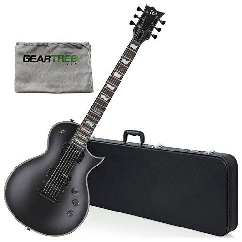 ESP LEC256BLKS LTD EC 256 BLKS Electric Guitar w/ Geartree Cloth and Hard Case
