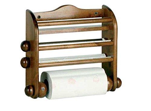Calder Portarotolo in legno per Scottex alluminio e pellicola