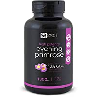 Evening Primrose Oil 1300mg 120 Liquid Softgels, Cold-Pressed with No fillers...