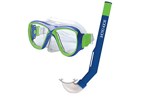 Body Glove Mischief Mask & Snorkel Combo, Blue/Lime