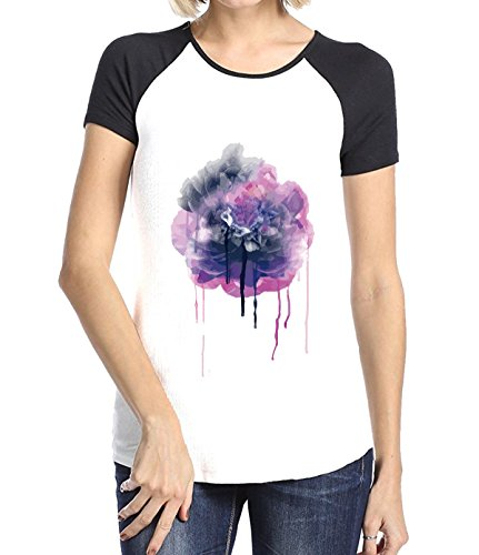 Springfield Halloween Mo (Crossing Womens Plant Flower Art Inkjet Style Effect T-Shirt for Women S)