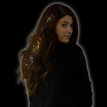 Amazon starlight strands illuminating fiber optic hair starlight strands illuminating fiber optic hair extensions rave toy multi rainbow pmusecretfo Images
