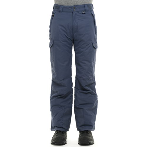 SKI GEAR by Arctix Men's 1960 Snow Sports Thermatech Insulated Nylon Waterproof Pant Shady Blue