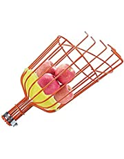 Fruit Picker Tool, Lightweight High-Grade Stainless Steel Adjustable Fruit Picker with Metal Twist-on Basket, Suit for Apple Pear Cherry Mango Guava Orange Avocados Etc Fruit Picking (Without Pole)