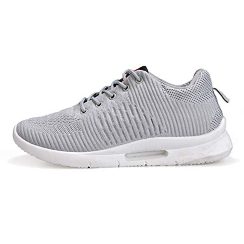 Mesh Sport Sneakers for Men, Huazi2 Breathable Leisure Breathing Athletic Comfortable Shoes Grey]()