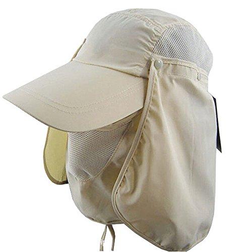 Ezyoutdoor Outdoor Jungle Fishing 360 Degree UV Protection Sun Block Hat Folding Visor Nylon Cap Mesh Bucket Flap Hats