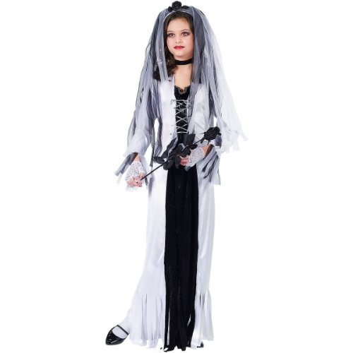 Graveyard Zombie Costume (Fun World Skeleton Bride Child Costume -)