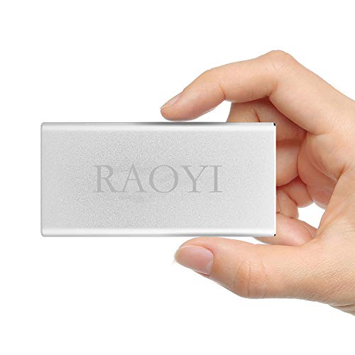 RAOYI 120GB USB 3.0 External Portable SSD, Ultra Slim Solid State Drive High Speed Write/Read up to 300/400 MB/s Aluminum, Silver by RAOYI (Image #7)